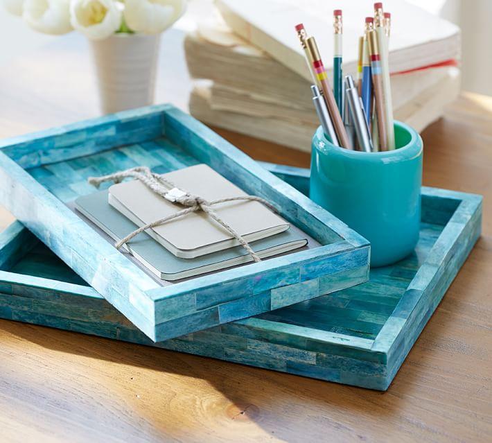 Turquoise Desk Accessories