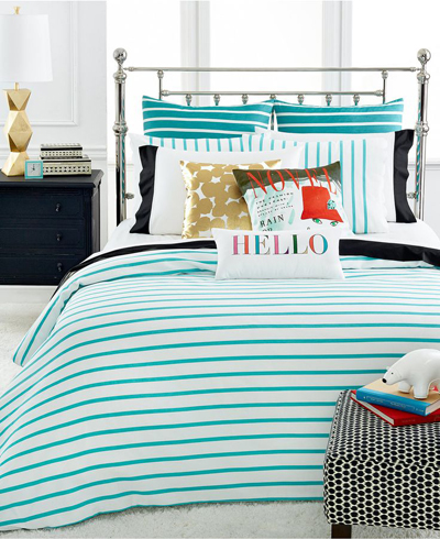 kate spade harbour stripe turquoise bedding - Turquoise Bedding