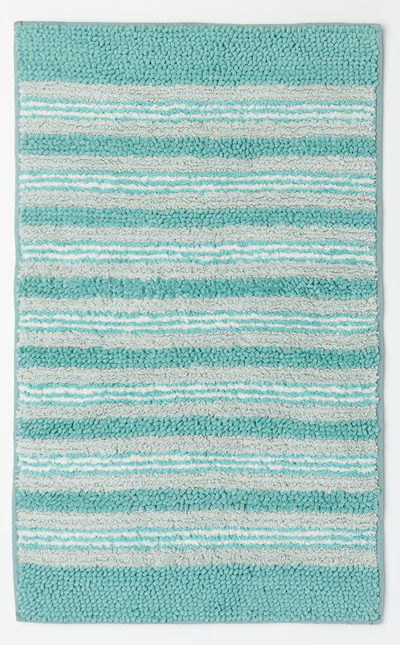 Oceanside Striped Bath Rug