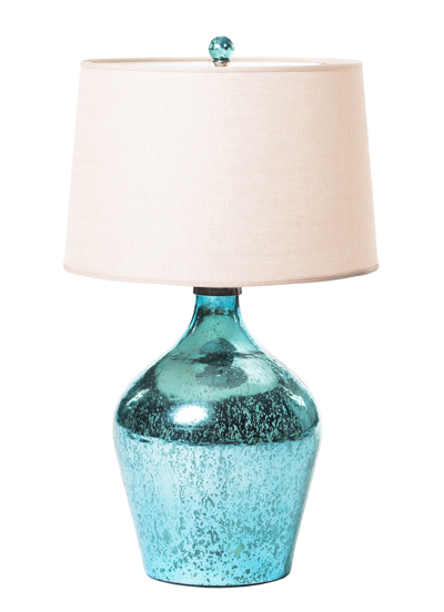 Mongo Turquoise Glass Table Lamp Everything Turquoise