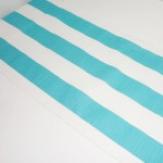 Ocean Blue/White Stripe Table Runner