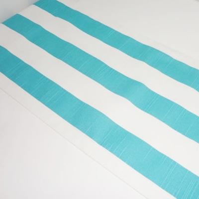Ocean Blue/White Stripe Table Runner
