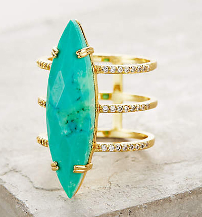 Orbited Turquoise Ring