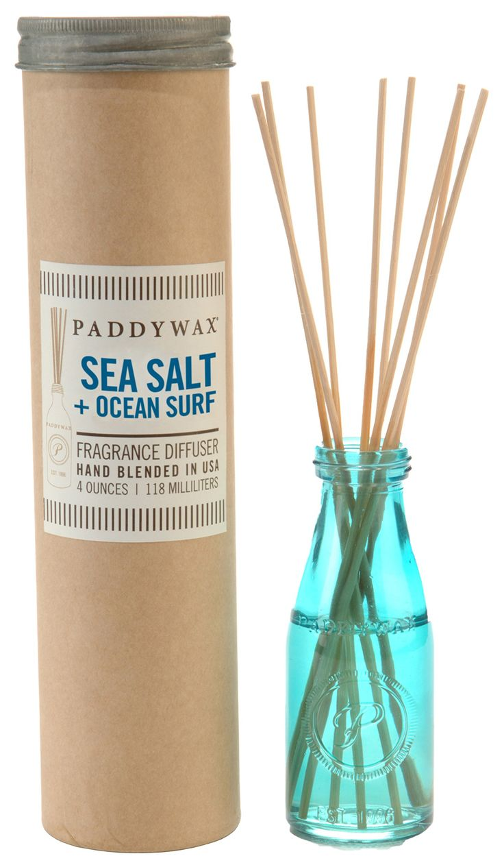 Paddywax Aqua Sea Salt and Ocean Surf Oil Diffuser Jar