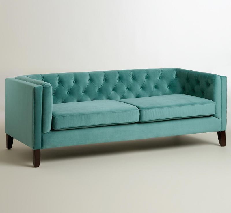Teal Kendall Velvet Sofa