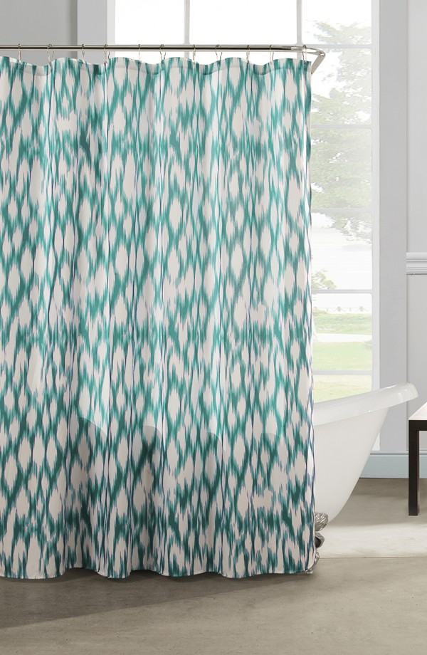 Teal Kensie Caitlin Shower Curtain
