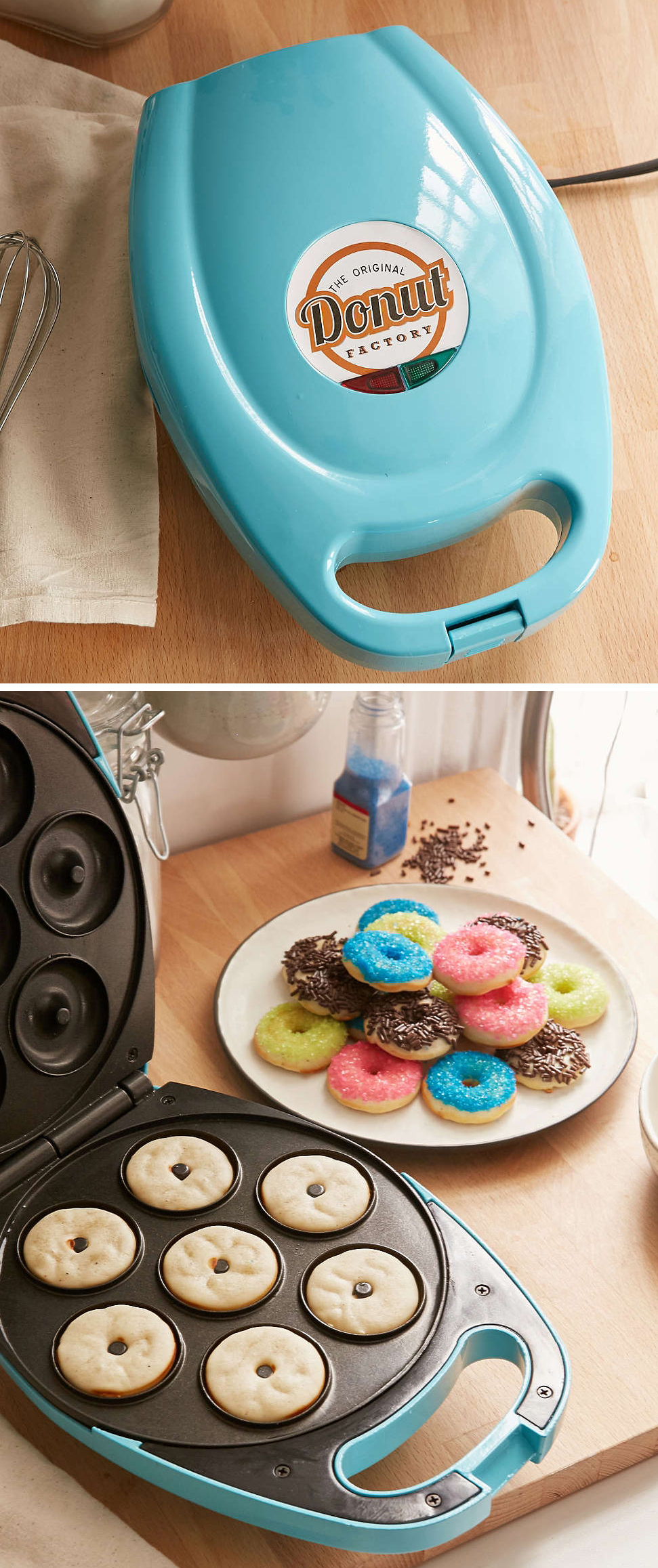 Teal Mini Donut Maker