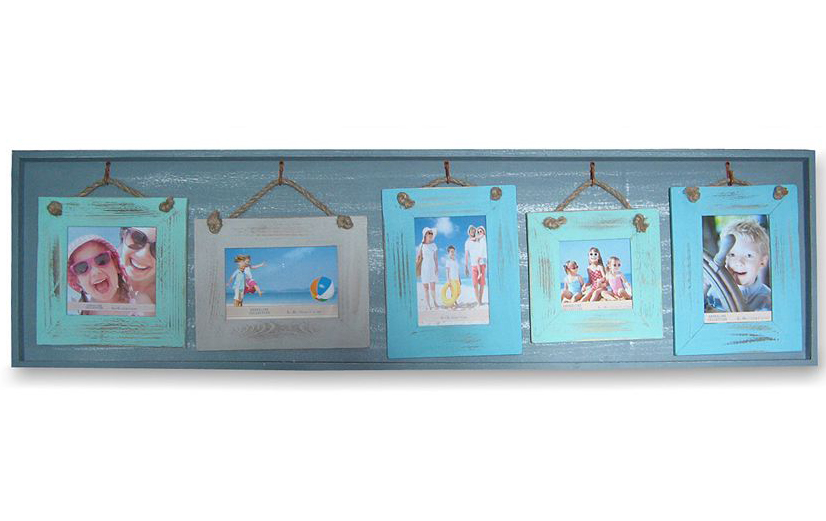 Blue 5-Opening Collage Frame
