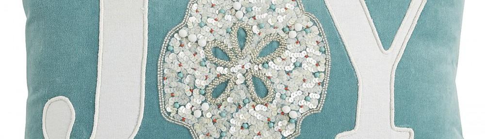 Coastal Joy Sand Dollar Lumbar Pillow