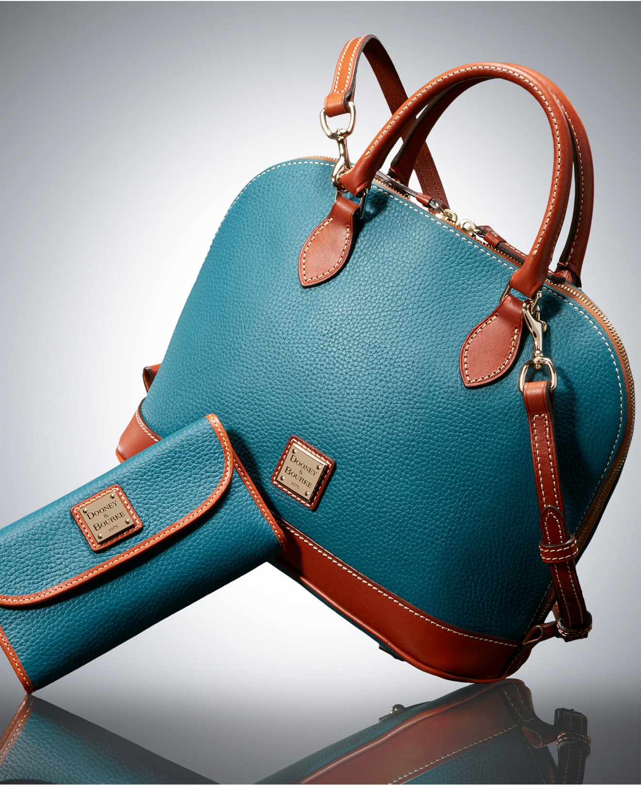 Zip Link Beds >> Dooney & Bourke Pebble Zip Zip Satchel and Continental Clutch Gift Set | Everything Turquoise