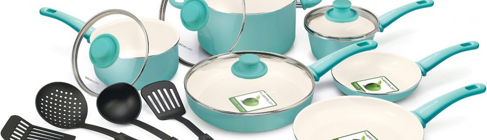 Greenlife Turquoise 14 Piece Nonstick Ceramic Cookware Set