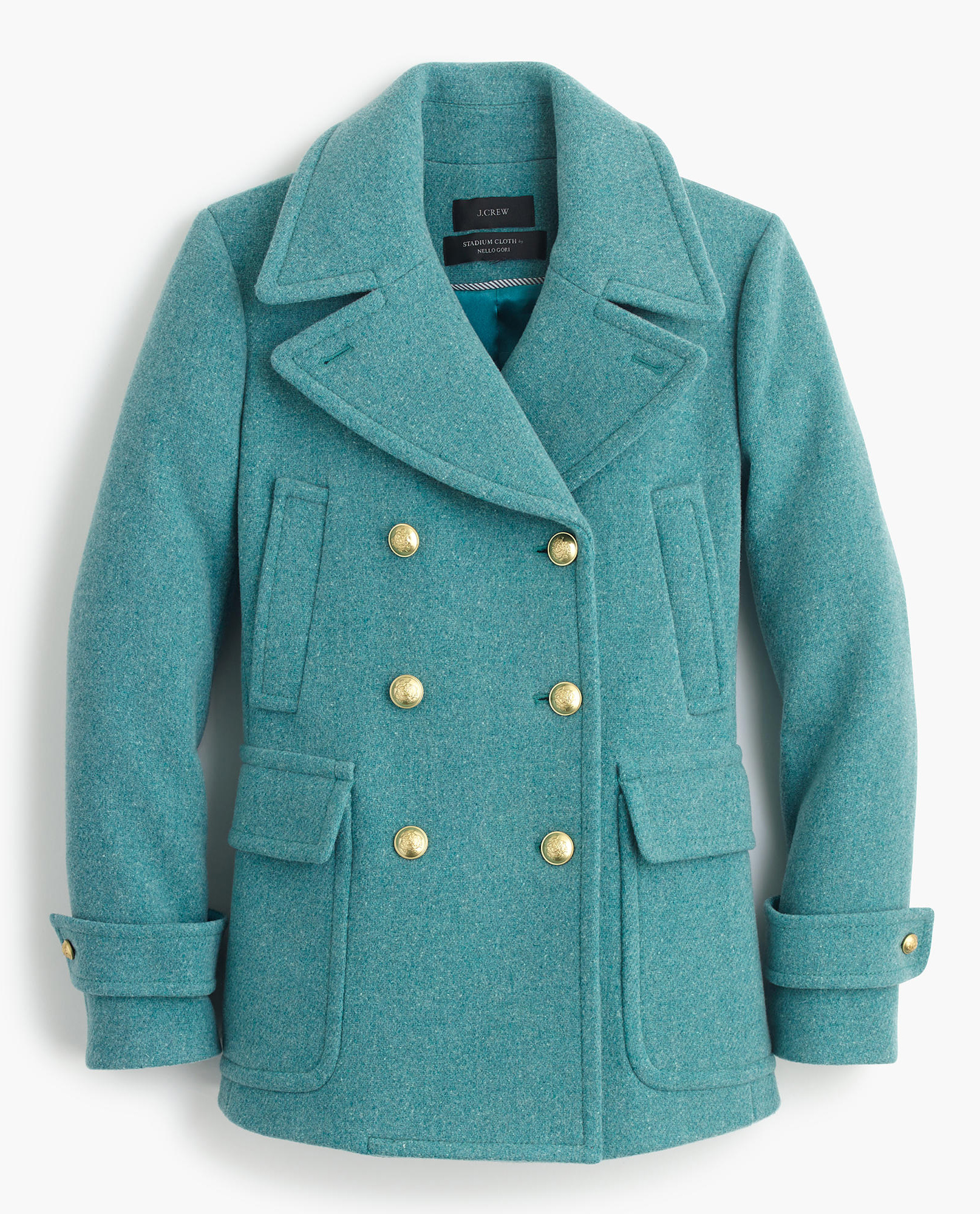Turquoise Stadium-Cloth Majesty Peacoat