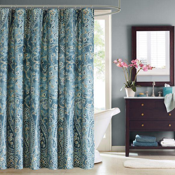 Windsor Paisley Cotton Shower Curtain