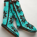 Woolrich Teal Chalet Socks