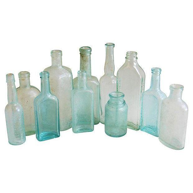 Aqua Antique Bottle Collection