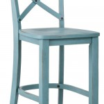 French Country X-Back 24″ Counter Stool in Blue
