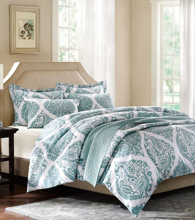 HH Ogee Paisley Quilted Coverlet Collection
