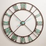 Industrial Reed Wall Clock