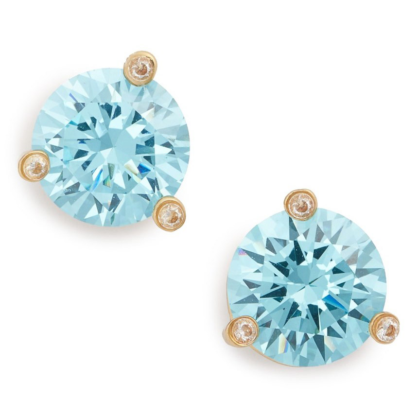Kate Spade Rise and Shine Stud Earrings in Aquamarine