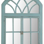 Turquoise Garden Window Mirror