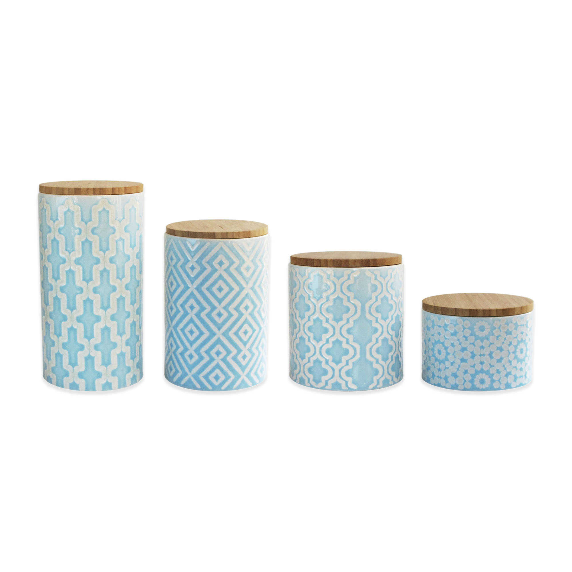 4 piece arabesque canister set in blue everything turquoise kitchen appealing retro kitchen canisters countertop