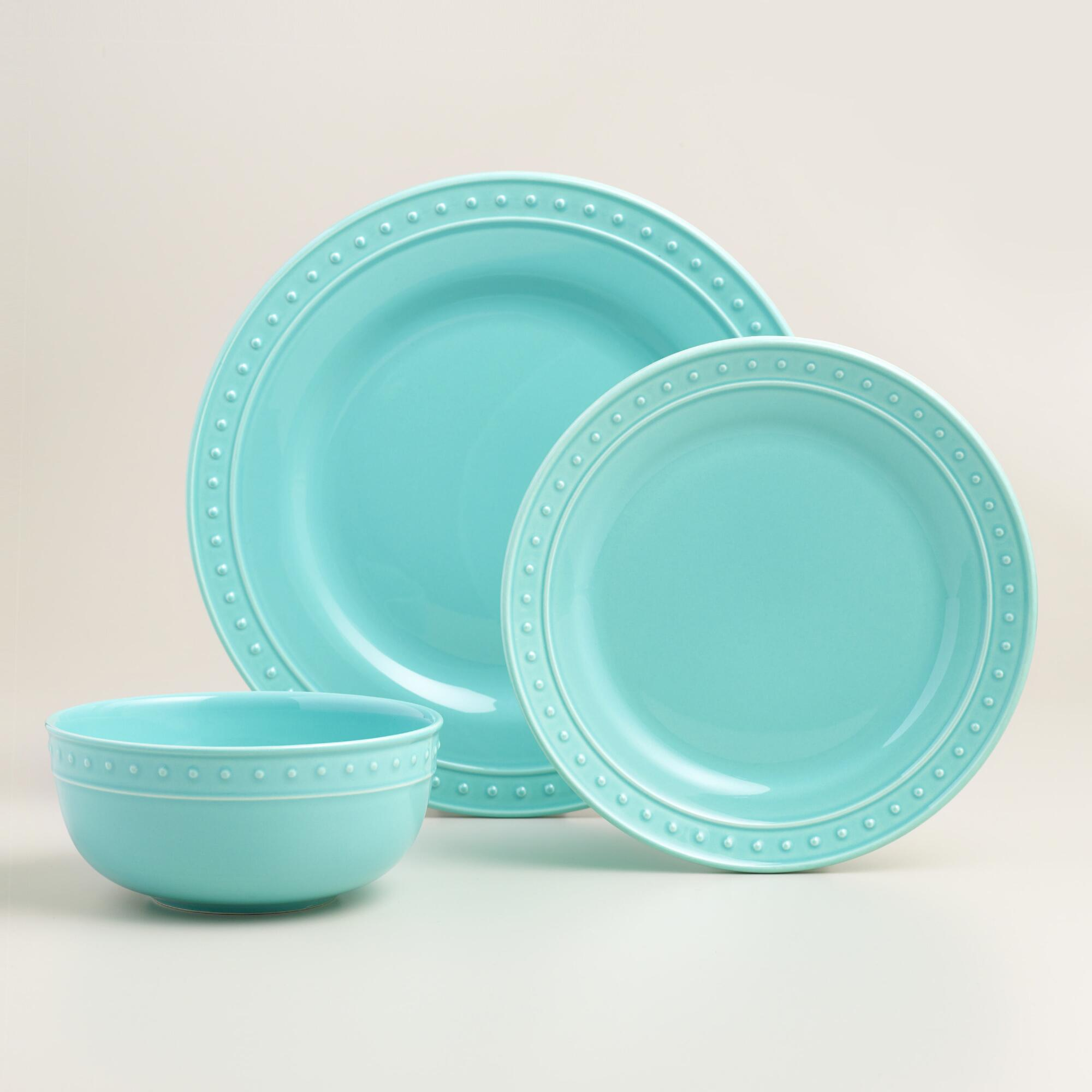 Aqua Nantucket Dinnerware & Aqua Nantucket Dinnerware | Everything Turquoise