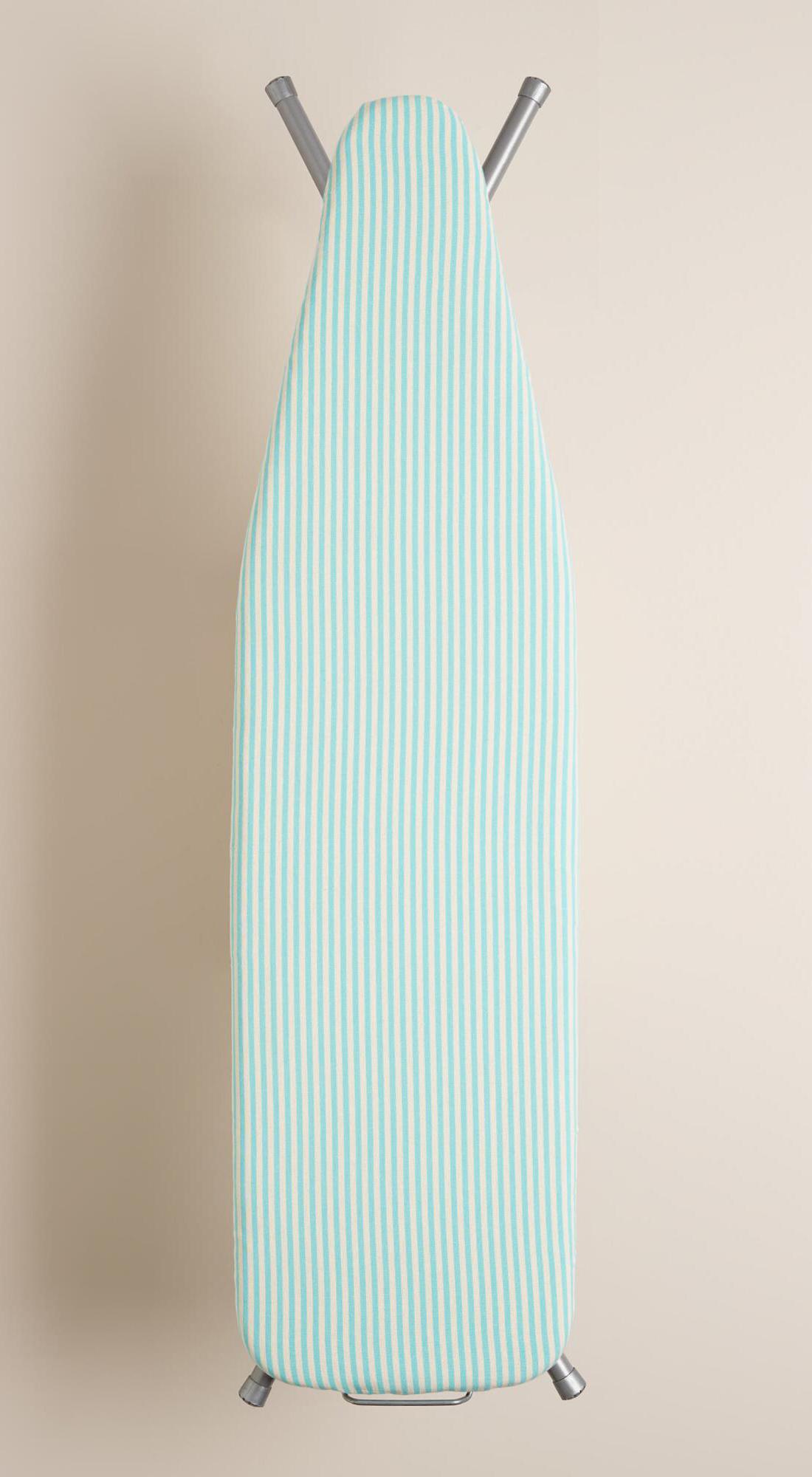 Aqua Ticking Stripe Ironing Board Cover