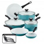 Farberware purECOok Nonstick Ceramic 12-pc. Cookware Set in Aqua