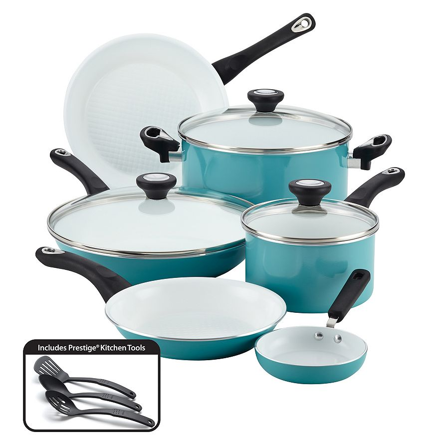 Farberware purECOok Nonstick Ceramic 12-pc. Cookware Set in Aqua