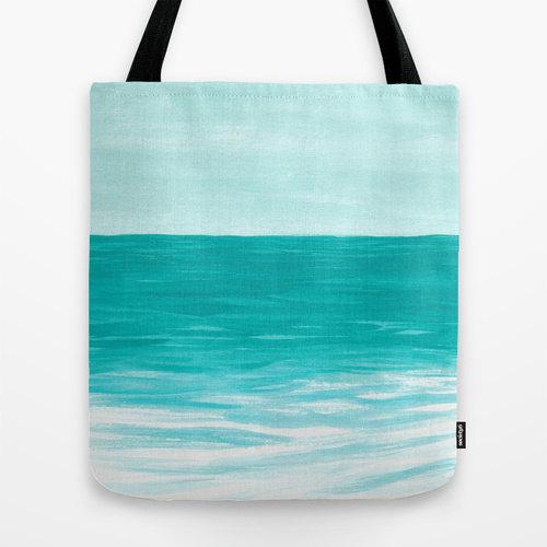 Ocean Art Turquoise Tote