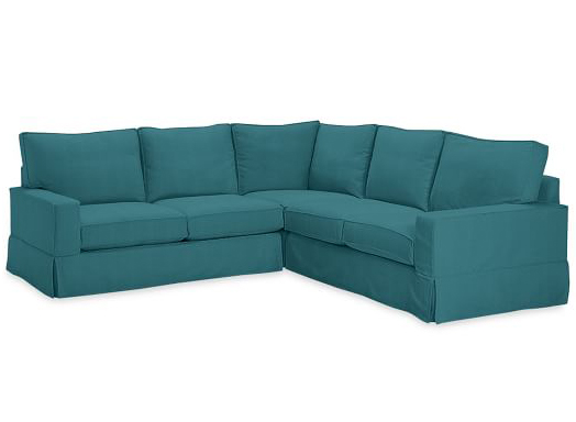 PB Comfort Square Slipcovered 3-Piece L-Shaped Sectional