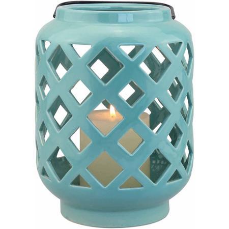 Teal Ceramic Lantern