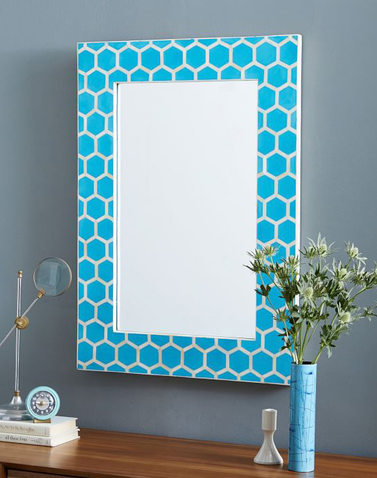 Turquoise Bone Inlay Wall Mirror