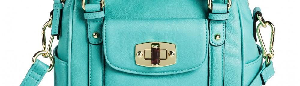 Turquoise Mini Satchel Handbag with Removable Crossbody Strap ...