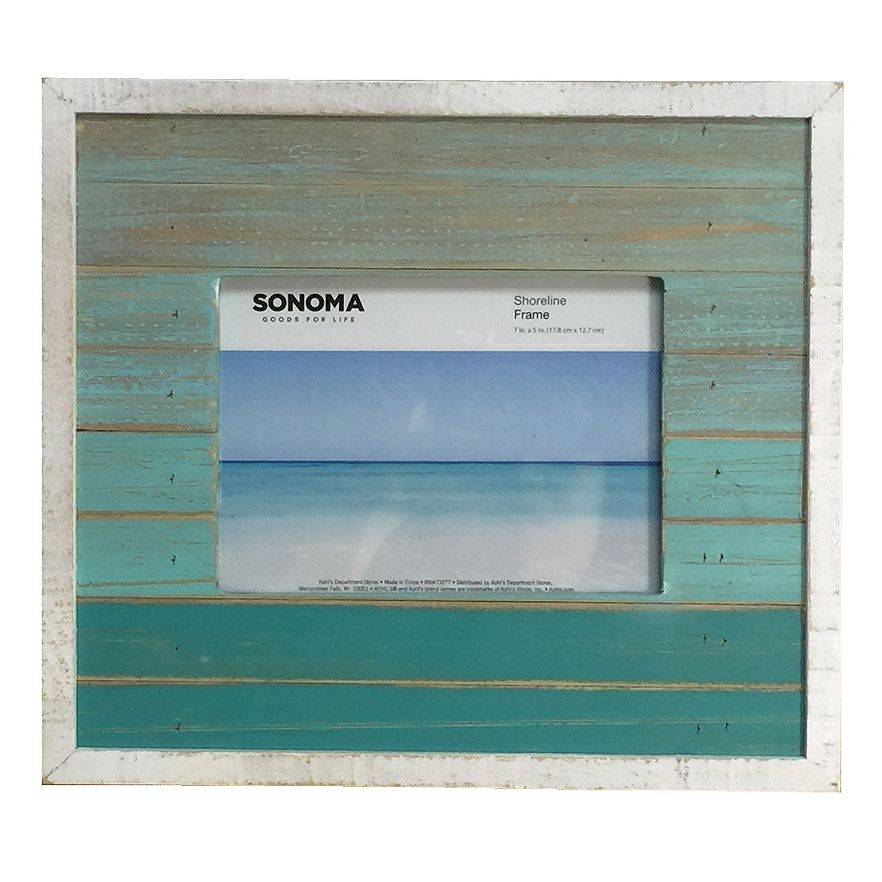 Turquoise Ombre Wood Frame