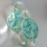 Aqua Ceramic Mermaid or Starfish Bangle Bracelet