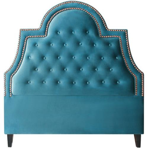 Amanda Teal Blue Upholstered Headboard