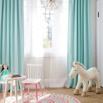 Aqua Bright Linen Blackout Panel