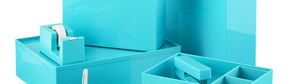 Aqua Poppin Office Desktop Collection