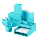 Aqua Poppin Office Desktop Collection