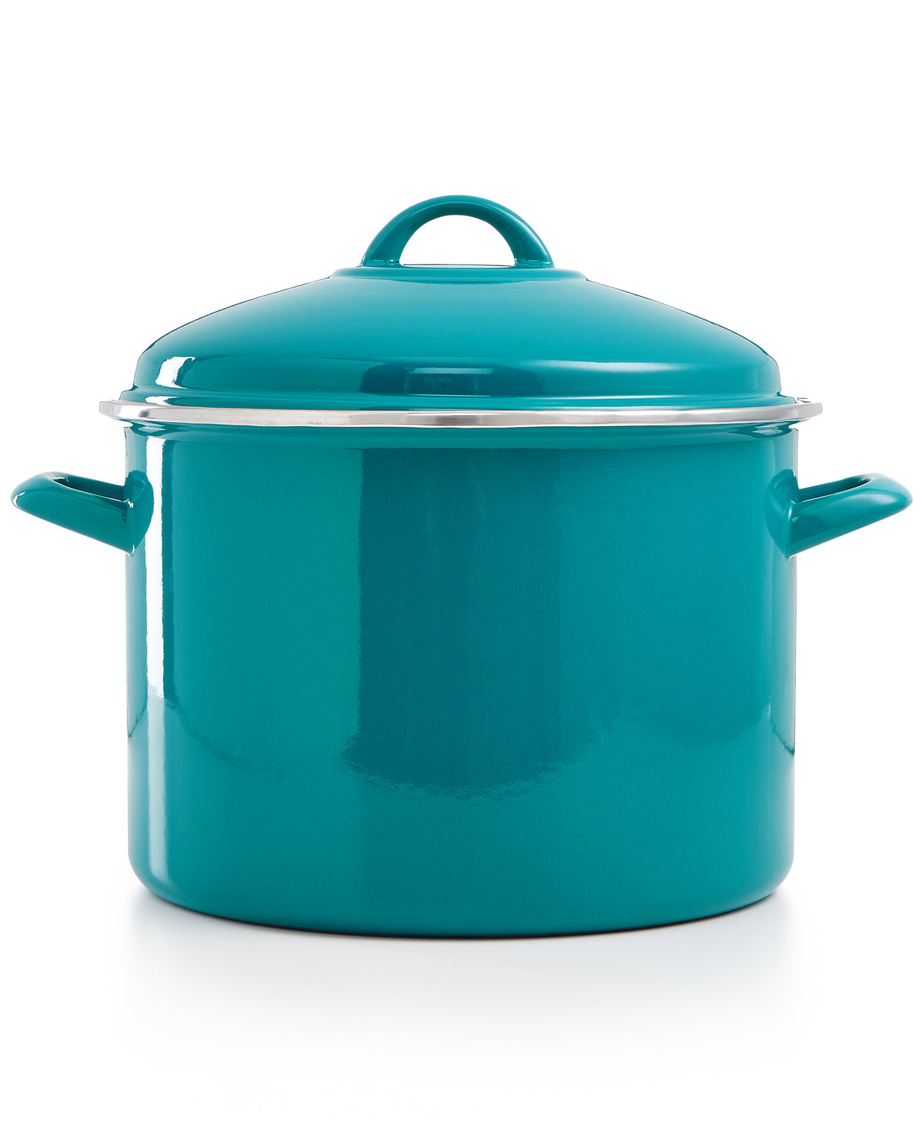 Martha Stewart Teal 10 Qt. Enamel on Steel Stockpot