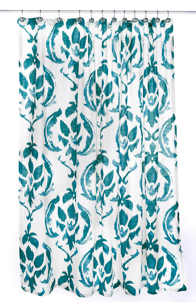 Medallion Shower Curtain in Peacock