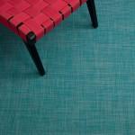 Mini Basketweave Woven Turquoise Mat
