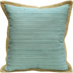 Turquoise Jute Trim Pillow