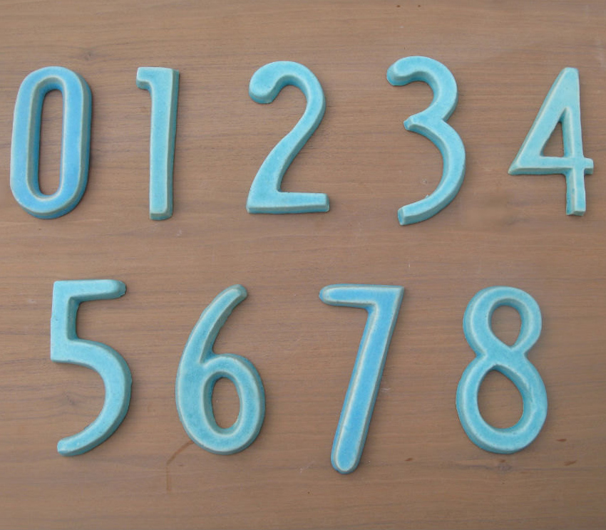 Turquoise Modern House Numbers