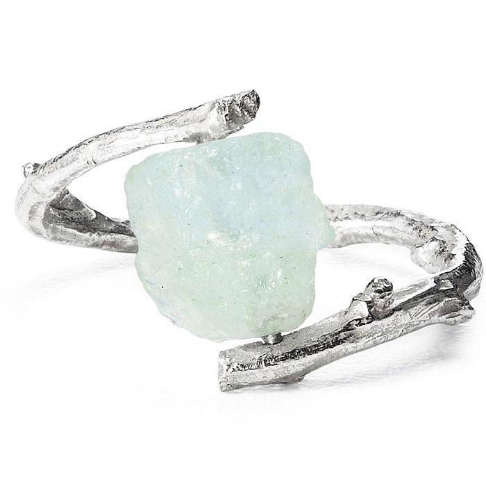 Aquamarine Branch Ring