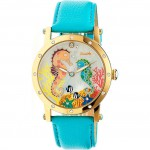 Bertha Morgan Mother-Of-Pearl Turquoise Watch