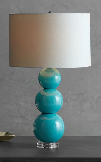 turquoise table lamp bedside cerena ceramic stacked table lamp everything turquoise