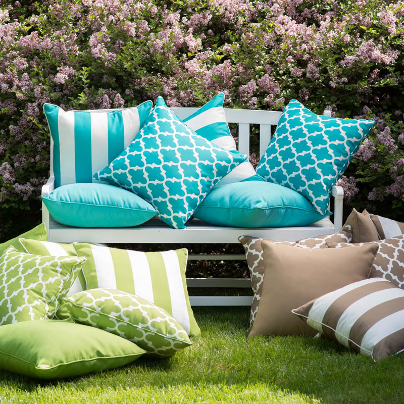 Coral Coast Lakeside 20 x 20 Outdoor Throw Pillows - Set of 2