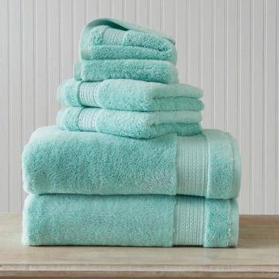 Hygro Pima Towel Set in Green Cast